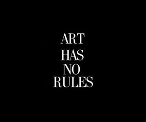 quotes, art, and rules image