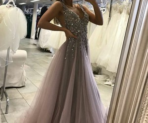 dress, fashion, and Prom image