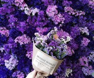 bouquet, flowers, and purple image