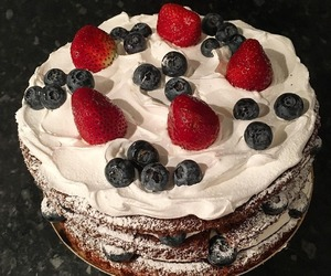 cake, beautiful, and girl image