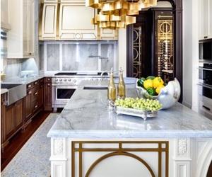 interior design, kitchen, and Island image