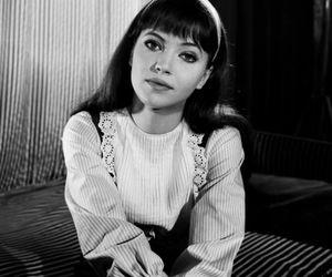 anna karina and black and white image