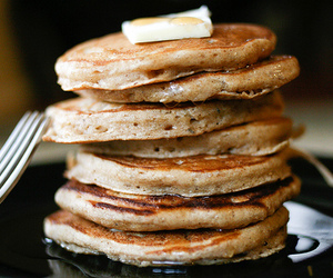 pancakes, yummy, and breakfast image