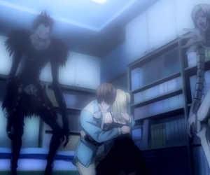 abrazo, death note, and light image