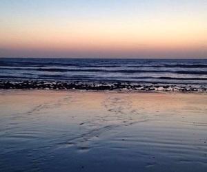 beach, blue sky, and sea image