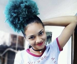 black, blue, and girls image