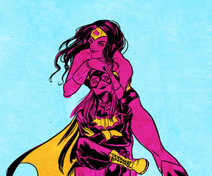 batgirl, diana of themyscira, and wonder woman image
