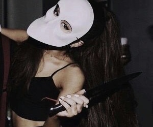 Halloween, moonlight, and ariana grande image