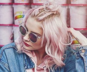 pink, hair, and fashion image