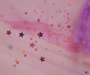 pink, stars, and kawaii image