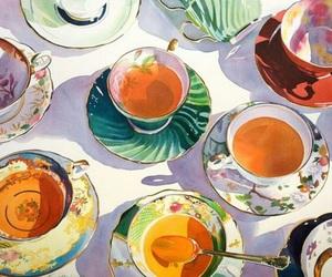 art, tea, and aesthetic image