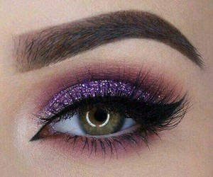 eyebrows, glittery, and makeup image