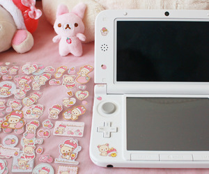 pink, stickers, and nintendo cute image
