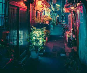 japan, light, and night image