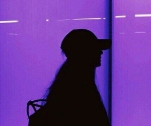 purple, girl, and aesthetic image
