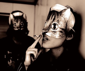 cat, Crystal Castles, and mask image