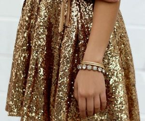 gold and skirt image