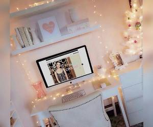 beautiful, pink, and white image