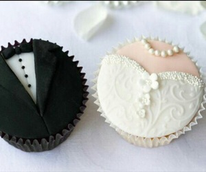 wedding, cupcake, and bride image