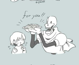 food, papyrus, and skeletons image