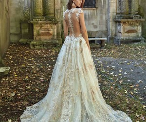 dress, marriage, and white image