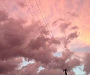 cloud, pink, and clouds image