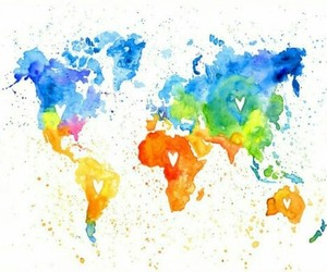 world, travel, and color image