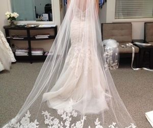 bridal veil, veu de noiva, and wedding image