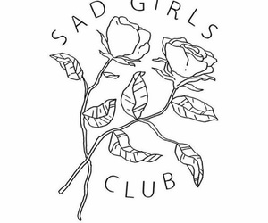 sad, rose, and club image