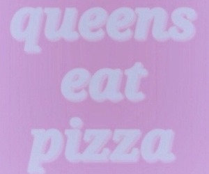 pizza, pink, and Queen image
