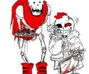papyrus, sans, and horrortale image