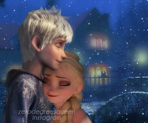 frozen, jack frost, and elsa image