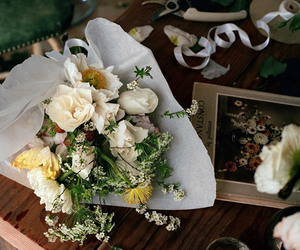 flowers, bouquet, and photography image