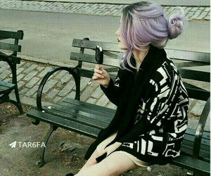 dark, gothic, and hair image