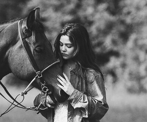 danielle campbell, horse, and girl image