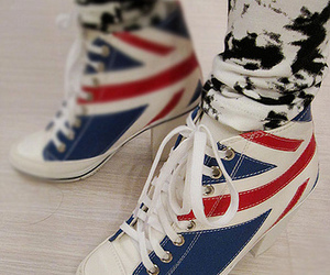 british flag, jeans, and shoes image