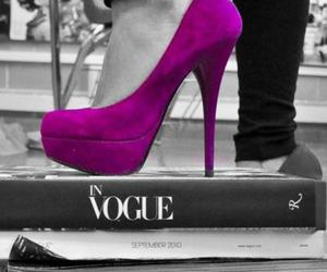 fashion, heels, and purple image