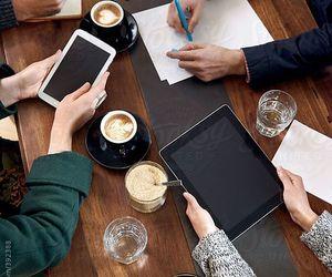 coffee, meeting, and ipads image