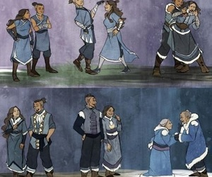 avatar, katara, and sokka image