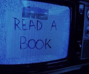 book, blue, and tv image