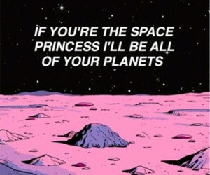 quotes, princess, and space image