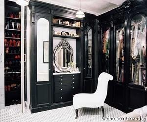 closet, black, and room image
