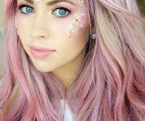 unicorn, makeup, and glitter image