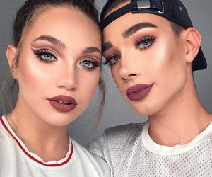 makeup, james charles, and maddie ziegler image
