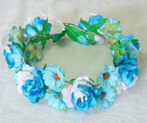 etsy, flower crown, and flower headpiece image