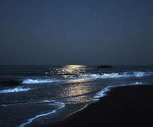 beach and night image