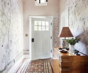 home decor, wallpaper print, and entry hall image