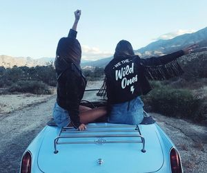 friends, car, and best friends image