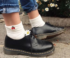 flowers, grunge, and shoes image