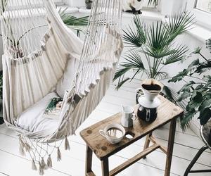 decor, hammock, and home image